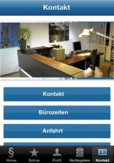 Screenshot unserer Kanzlei-App (Apple-Version)