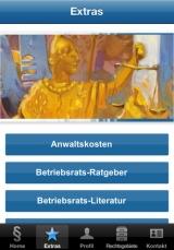 Screenshot unserer Kanzlei-App