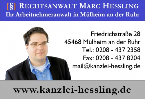 Marc Hessling Ihr Arbeitnehmeranwalt für alle arbeitsrechtlichen Fragen